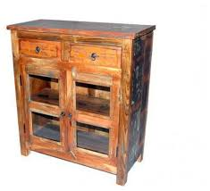 old world rustic 2 drawer 2 glass door cabinet accent chests and cabinets by lindy s furniture company