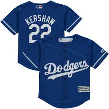 Preschool Los Angeles Dodgers Clayton Kershaw Majestic Fashion Royal  Official Cool Base Player Jersey