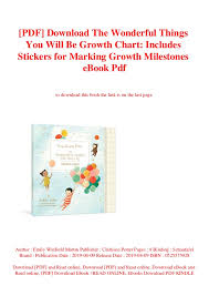 Growth Chart Who Pdf Pdf Download The Wonderful Things You Will Be Growth Chart