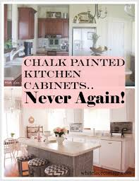 White painted kitchen cabinets before and after Maple Cabinets Chalk Painted Kitchen Cabinets Never Again The Web Decorators Chalk Painted Kitchen Cabinets Never Again White Lace Cottage