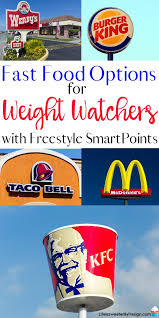 best fast food options for weight watchers freestyle