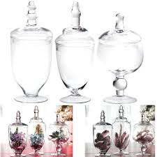 candy buffet jar set high quality clear glass apothecary jars wedding candy buffet containers set 3