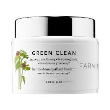 green clean makeup meltaway cleansing balm with echinacea greenenvy farmacy sephora