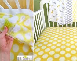 little sunshine fleece fitted crib sheet  sewhome