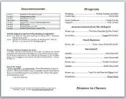 Church Bulletin Templates Free Download A Template Wedding Reception