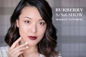 tutorial burberry spring summer 2016 inspired makeup look