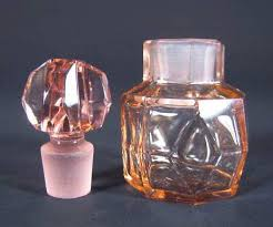 antique colored glass perfume bottle tjb6296