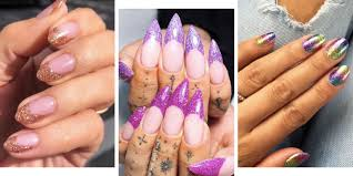 Pink Purple And Silver Nail Designs Glitter Nails 27 Of The Sparkliest Designs On Instagram