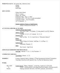 Resume Template High School Puentesenelaire Cover Letter