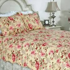 Lelia Pink Rose Cottage Cotton 3-piece Quilt Set   Bed furniture ... & Lelia Pink Rose Cottage Cotton 3-piece Quilt Set Adamdwight.com