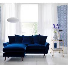blue velvet furniture. Modren Furniture Bardolph Scatterback Chaise Sofa How Stunning Does This Blue Velvet  Throughout Blue Velvet Furniture