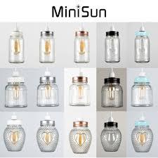 vintage retro stye glass jar ceiling pendant light lamp shade lampshades shades 1 of 1free see more