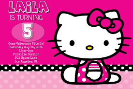 Printable Hello Kitty Invitations Personalized Hello Kitty Birthday Template Postermywall