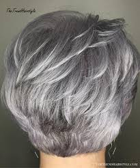 20 fun bob hairstyles for women who want to go short. Gray And Layered 60 Gorgeous Hairstyles For Gray Hair The Trending Hairstyle