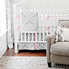 grey and white baby bedding nursery bedding stella gray collection burts bees gray and white crib