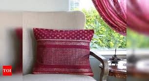 Decorating your walls with tapestries. Silk Reuse Sarees To Refurbish Your Home Times Of India