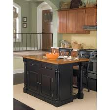Home Styles Monarch Black Kitchen Island With Seating-5008-948 - The Home  Depot