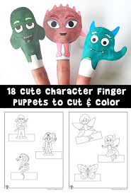 Printable Finger Puppets To Cut And Color Woo Jr Kids