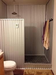 corrugated tin bathroom inexpensive shower wall ideas google search baths 736 x 981px