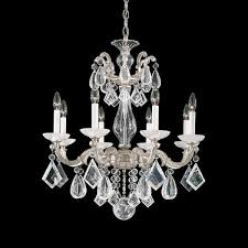 schonbek la scala 8 light rock crystal chandelier