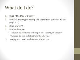 writing the archetypes essay ppt 3 what