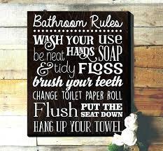 kids bathroom decor signs.  Decor Precious Bathroom Rules For Kids Rustic Signs Decor  Best Of   For Kids Bathroom Decor Signs I