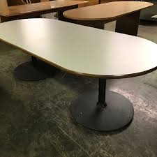 7 foot round wood conference table office furniture