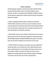 Lease agreement free printable rental agreement templates room rental agreement contract agreement landlord tenant being a landlord apartment lease bill of sale template real estate forms. Sample Lease Agreements Lovetoknow
