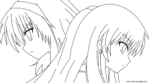 Anime Girl Coloring Pages Saglikme