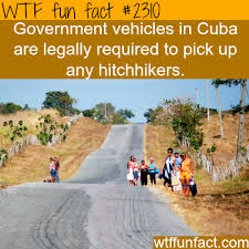 Government vehicles in Cuba - WTF fun facts