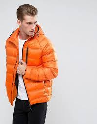 bellfield lightweight padded jacket with hood n80h3 for men