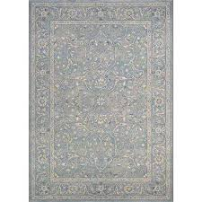 sultan treasures fl yazd slate blue 4 ft x 5 ft area rug