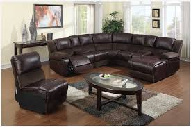 round sectional sofa bed. Enchanting Living Room Decor: Remarkable Small Brown Leather Sectional Sofa Bed With Hardwood Flooring From Round E