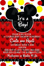 Mickey Mouse Baby Shower Invitations Printable And Offering An