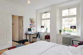 Small Apartment Bedroom Decorating Apartment Bedroom Decorating Ideas White Bed With Cute Window And