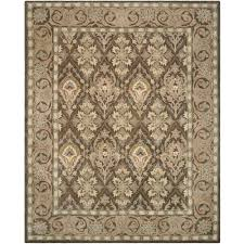 safavieh anatolia brown beige 9 ft x 12 ft area rug an587c 9 the home depot
