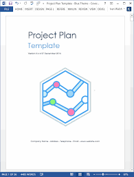 Word Project Project Plan Templates Ms Word 10 X Excels Spreadsheets