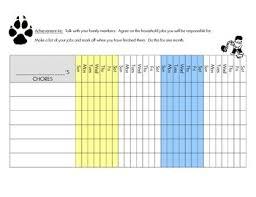 Cub Scout Wolf Den Achievement 4e Chore Chart