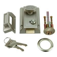 belwith keeler satin nickel door night latch and locking