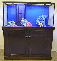 furniture aquarium. 90G Reef-Ready Aquarium On Triple-Waxed Birch Hardwood Cabinet Furniture
