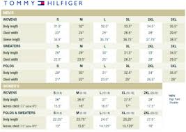 Tommy Hilfiger Size Chart Us Tommy Shirt Size Chart Related Keywords Suggestions