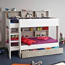 kids bunk beds with storage. Wonderful Beds Happy Beds Tam White And Grey Wooden Kids Bunk Bed With Underbed Storage  Drawer Throughout With O