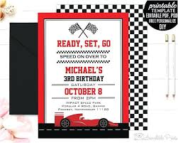 Boy Birthday Party Invitation Templates Free Race Car Party Invitation Templates Melaniekannokada Com