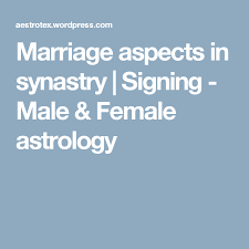 Synastry And Marriage Aspects Love Astrology Relationship