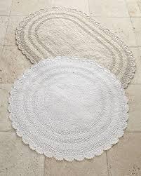 oval bathroom rugs gray oval crochet bath mat world