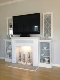 Decorate Your Fake Fireplace Mantel  StylesHouseHow To Build A Faux Fireplace