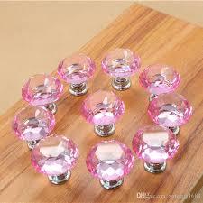 30mm diamond shape crystal glass knobs cupboard drawer pull kitchen cabinet door wardrobe handles hardware crystal glass knobs door wardrob pull handles