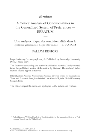 A Critical Analysis Of Conditionalities In The Generalized System Of ...