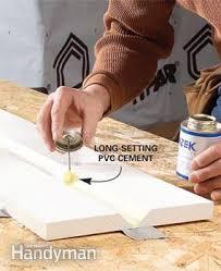 pvc sheet glue cutting and installing plastic azek trim the family handyman