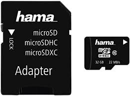 Hama   <b>32GB</b> Class 10 <b>Micro</b> SDHC   Memory Card with SD Adapter ...